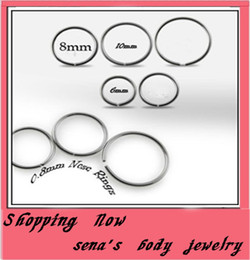 $enCountryForm.capitalKeyWord Canada - N30 nose jewelry wholesales 100pcs lot mix 3 size Body Piercing Jewelry stainless steel nose ring Hoop ring