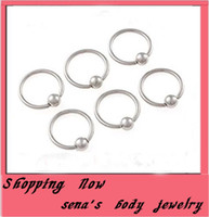 Wholesale Nipple Piercing 16g - Wholesale-OP-Wholesale 100 pcs Mix 16G 8 10mm Captive Bead Ring Eyebrow Nipple Labret Nose Ring Piercing Body Jewelry