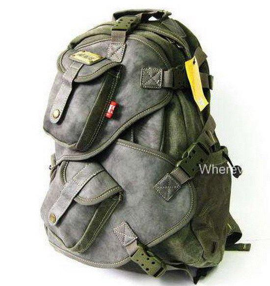 30d50d3ae2d7 New Men s Canvas Leather Backpack Amry Style Green M176G Osprey Backpack  Tool Backpack From Beijing111