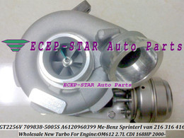 Turbocompresseur de GT2256V 709838-5005S 709838 A6120960399 Turbo pour Mercedes Benz Sprinter I Van 216 216CDI 416CDI OM612 2.7L 168HP