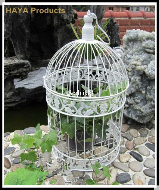 Classic White Decorative Bird Cage For Wedding Metal Caged Bird Iron