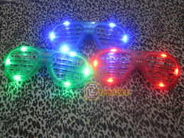 Wholesale Shutter Sunglasses Clubbing - 20pcs New LED Fashion Shutter Sunglasses 3 color Glow Light Glasses CLUB free shipping