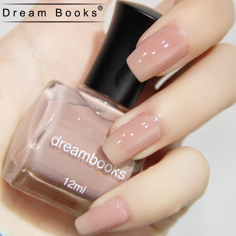 Dreambooks Green Nail Polish Nude Pink Solid Color Sweetie 12ml ...
