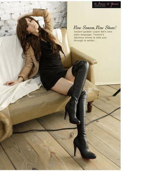 bottes femme talon haut cuir. Black Bedroom Furniture Sets. Home Design Ideas
