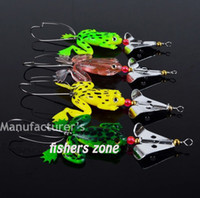 ingrosso rane molli-Fishing Lure Set 8pcs_LOT Rubber Frogs Soft Fishing Lures Bass CrankBait Tackle 9cm_3.54'_6.2g cucchiaio spinner Esche