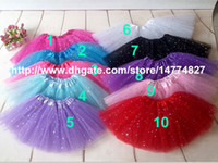 Wholesale Glitter Skirts - Wholesale Tutu Skirt Baby Girls Glitter Tull Skirts Ballet Tutus Skirts Dance Party Skirt Hotsell 2014