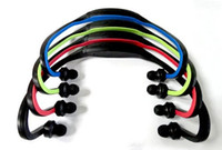 Wholesale mp3 player digital headphones - 2015 Hot Sale Limited Red Blue Green Sports No Wireless Sport Mp3 Player Wrap Around Headphones Digital with Tf Card 3 Colors Fee Shipping