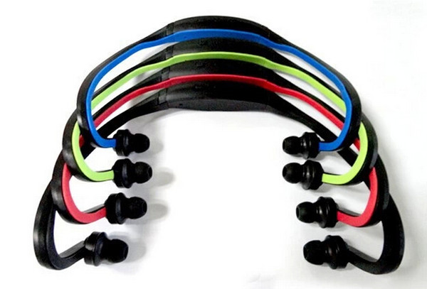 2015 Hot Sale Limited Red Blue Green Sports No Wireless Sport Mp3 Player Wrap Around Headphones Digital with Tf Card 3 Colors Fee Shipping