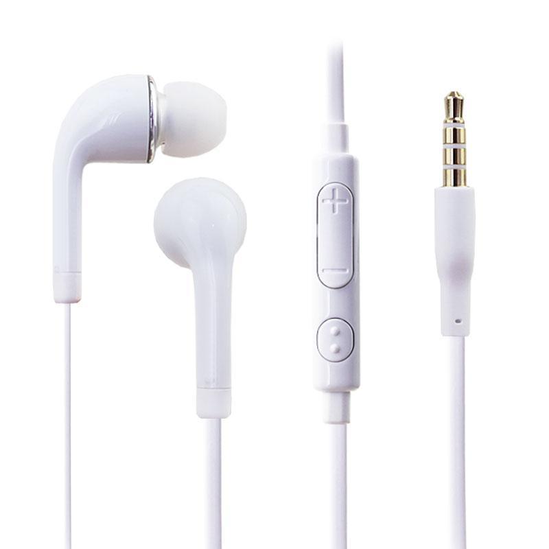 In-ear hörlurar hörlurar handsfree med fjärrkontroll och mikrofon för smart telefon, mobiltelefon, android telefon med detaljhandel