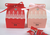 Wholesale Sweet Love Favour Box - Free Shipping Romantic Wedding Sweet Love Candy Box Baby Shower Favour