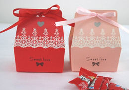 Wholesale Baby Favours Free Shipping - Free Shipping Romantic Wedding Sweet Love Candy Box Baby Shower Favour