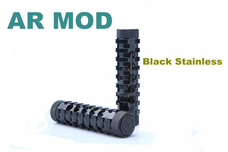 Mechanical AR Mod AR MOD Stingray Mod King Mod Panzer Mod With All 510 Thread Claromizers Black Stainless 2 Colors TZ006