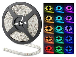 Wholesale Dc Color - 100M 20 rolls Led Strip Light RGB 5050 SMD 300Led Waterproof IP65 100 meter led ribbon change color Halloween Christmas String Via DHL