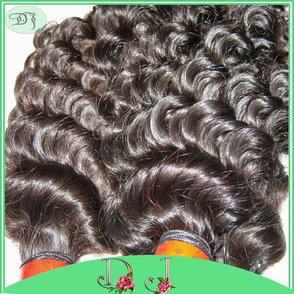 7a أحدث تسريحات الشعر غير المجهزة البرازيلي عميق مجعد الشعر / حزم لون طبيعي لحمة اللحم 10