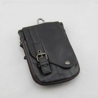 Men's Leather Waist Pack,Small Belt Bag For Male,Fashion Casual ...