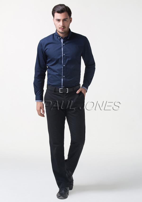 2017 New Arrive Men's Stylish Collection Navy Blue Shirts Long ...