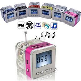Wholesale Speakers Hifi - Nizhi TT-028 Portalble Speakers TT028 Subwoofer LED Crystal LCD Display Mini Music MP3 Player Loud Spearkers FM SD TF Card Christmas Gift
