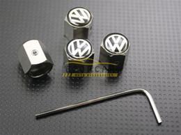 Wholesale wheel wholesale - 10Sets Lot Volkswagen Wheel Tyre Tire Valve Stem Air Dust Covers Caps Anti-Theft Locking VW Wholesale