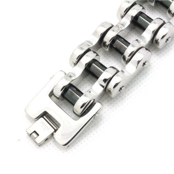204g Noir Pilier Chaud Vélo Chaîne Bracelet Pour Homme Cool 316L En Acier Inoxydable Vente Chaude Biker Style Amazing Design Chaud Bracelet