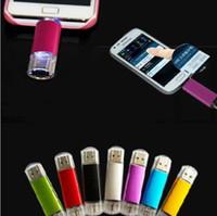 bilgisayar usb bellek toptan satış-256 GB 128 GB 64 GB Akıllı Telefonlar Için USB Flash Sürücü OTG Kalem Akıllı Telefonlar tablet bilgisayar rastgele renk harici depolama mikro usb memory stick