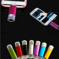 Wholesale Memory Pen Drives - 256GB 128GB 64GB Smart Phone USB Flash Drive OTG Pen For Smart Phones tablet computer random colour external storage micro usb memory stick