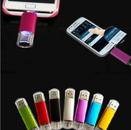 Wholesale Drive Smart - 256GB 128GB 64GB Smart Phone USB Flash Drive OTG Pen For Smart Phones tablet computer random colour external storage micro usb memory stick