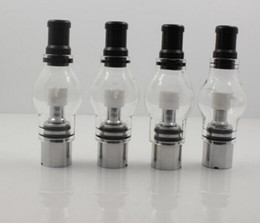 Wholesale Wholesale Wax Atomizer Attachment - popular Bulb Atomizer Wax Glass dome glass globe attachment Glass Pyrex Glass for eGo t Battery E Cigarettes Dry Herb Wax Vaporizer