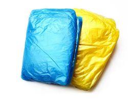 Wholesale Disposable Adult - Fashion Hot Disposable PE Raincoats Poncho Rainwear Travel Rain Coat Rain Wear gifts mixed colors