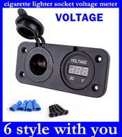 Wholesale Top Sale V Charger Plug Motorbike Motorcycle Car Cigarette Lighter Socket Power Outlet Plug And Voltmeter Socket original