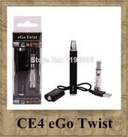 Wholesale Ego Twist Variable Voltage Kit - eGo Twist CE4 Atomizer Variable Voltage Electronic Cigarette 3.2V-4.8V 650mah 900mah colorful 1100mah battery e-cigarette kit Blister pack
