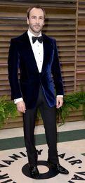 Wholesale Tailor Men White Suits - Tailored Dark Blue velvet wedding suits for men peak lapel  Groom Wear tuxedos 4 peices suits set(jacket+Pants+bowtie+Pocketsquare)
