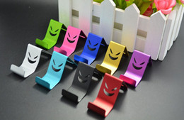 Wholesale Galaxy S4 Mini Holder - New Universal Mini Metal Smile Devil Stand Holder for Mobile Phone MP4 GPS Samsung Galaxy S3 S4 S5 Note 2 3 iPhone iPod itouch Sony HTC LG