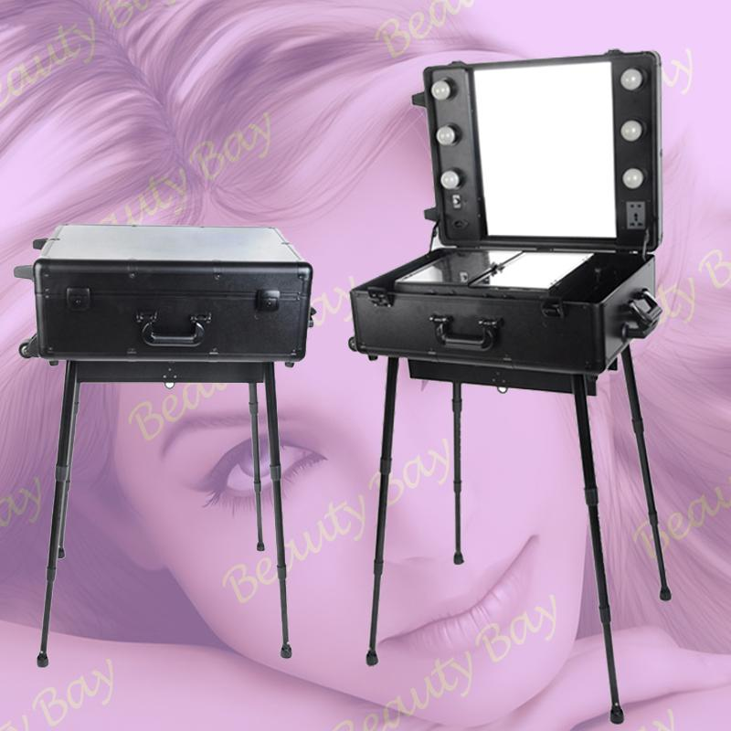 2019 Professional Trolley Aluminium Aluminum Makeup Station Beauty