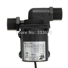 Wholesale Electric Aquarium Water Pump - 12V 1000L H Electric Solar Brushless Motor Water Pump Magnetic Driven for CPU Cooling Aquarium Fountain Garden Water feature