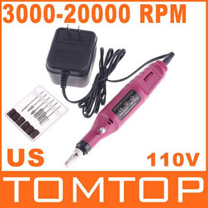 Wholesale-MN-Promotions, Electric Nail Drill Manicure Pedicure Bits 3000-20000 RPM 110V 60Hz (US Plug),Free Shipping