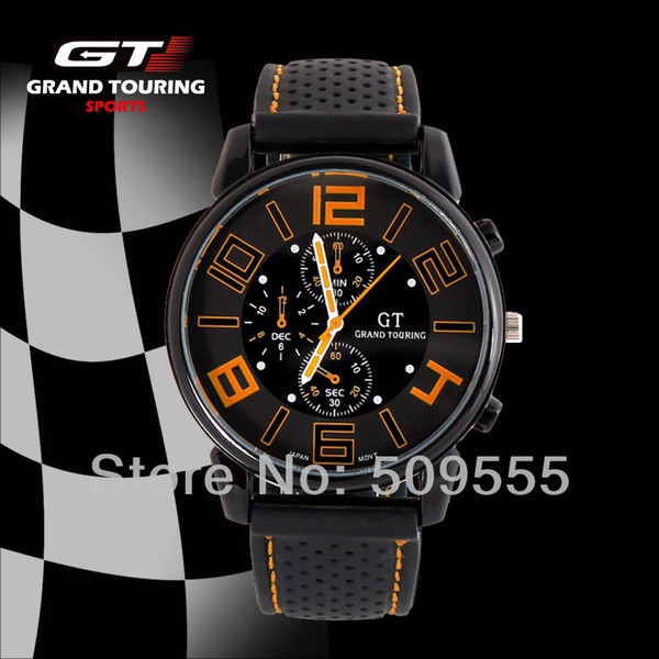 GT Grand Touring F1 Racing Hombre Relojes Deportes Cool Army Army Watch Nuevo diseño para 2014 Hot Sales