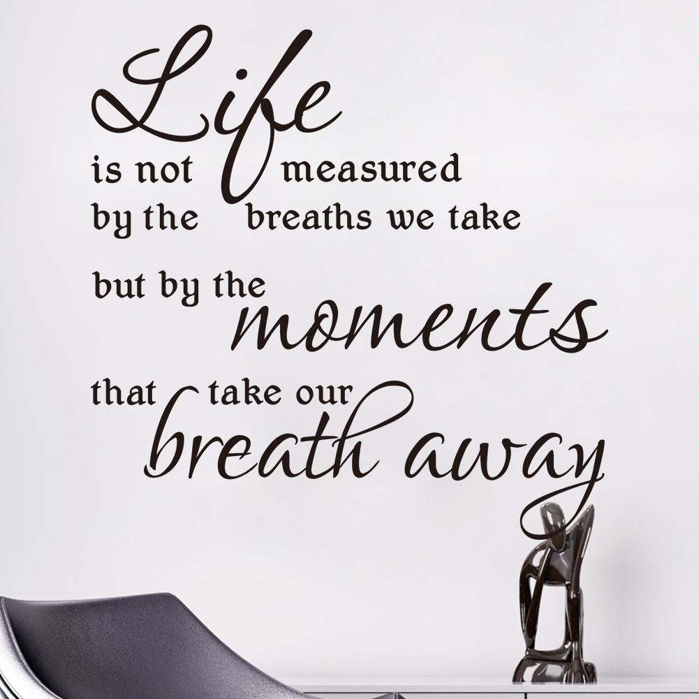 Life Is Not Measured Quote Life Is Not Measuredthe Breaths We Take Vinyl Wall Decals