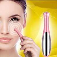 Wholesale Eraser Pen - Electric Ionic Vibration Eye Wrinkle Eraser Remover Eye Dark Circle Beauty Pen Eye Massager Fast Shipping