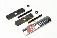 Wholesale grille grill - 10Pcs Lot SLine Metal Car Front Grill Grille Zinc Metal Emblem Badge Wholesale