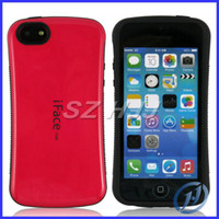 Wholesale Iface Shockproof Iphone Case - 50PCS Anti-slip Shockproof Iface TPU Case Cover Korea Style Candy 10 Colors For Iphone 5 5S 5C 5G 4 4G 4S