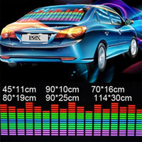 Wholesale Stickers Sound Equalizer - car styling 6 sizes of Sound Music Activated EL Sheet Car Stickers Equalizer Glow Flash led Light racing decal auto film