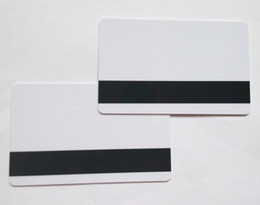 Wholesale Pvc Blanks Wholesale - 10PCS PVC Blank White Plastic Cards 30Mil LoCo Magnetic Mag Stripe with protective fill free shipping