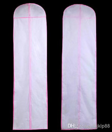 Wholesale Dress Dust Covers - 180CM Ultra Long Size Free Shipping No Logo Wedding Dresses Gown Garment Storage Bag Garment Bags Cover Evening Dust Cover Bridal Accessorie