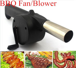 Wholesale Manual Blower - Fan Air Blower For Barbecue Fire Bellows w Hand Crank Brand New hight quality free shipping
