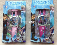 Wholesale Gift Boxed Watches For Children - frozen watch for children frozen snow queen elsa Wristwatch frozen wrist watch frozen watch with box princess birthday party gifts hot sale