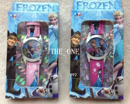 Wholesale Snow Wrist Watch - frozen watch for children frozen snow queen elsa Wristwatch frozen wrist watch frozen watch with box princess birthday party gifts hot sale