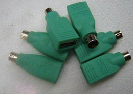 Wholesale Ps2 Usb Mouse Adapter - Mouse Mice Keyboard USB male to PS2 PS 2 female Adapter Converter