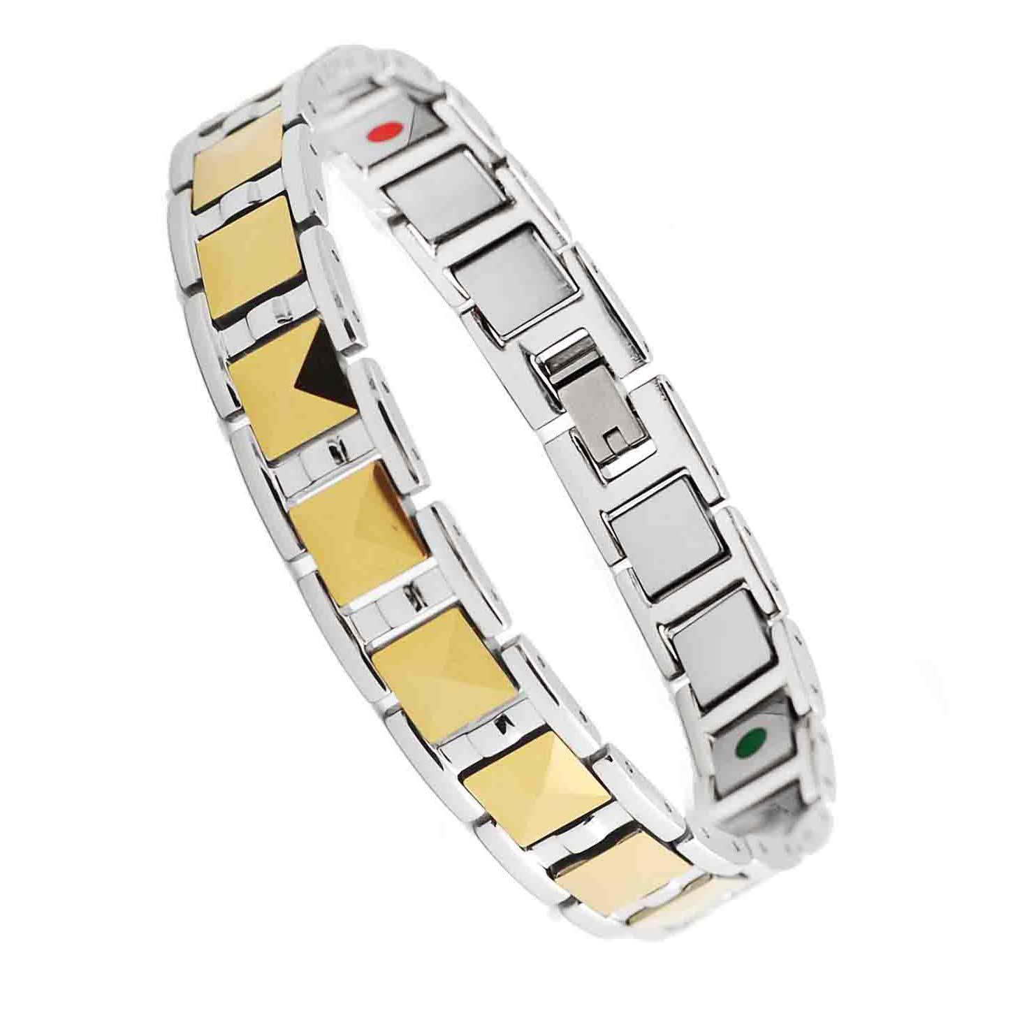 metal link grooved with vertical mgw contemporary bracelet alternating bracelets shop jewelry tungsten horizontal