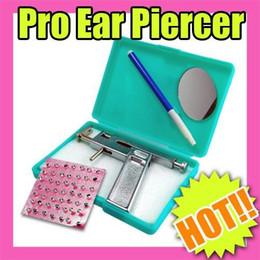 Ear Gun Studs Canada - Wholesale-MN-Nail Art Fast & Free Shipping Wholesales Price Ear Piercing Gun Pierce Kit + 98 Free Silver Studs Make-up 146
