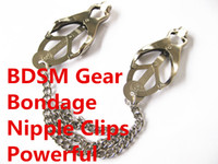 Wholesale Sex Gears - BDSM Gear Nipple Clips Bondage Clamps Foreplay Fetish Japanese Adult Games Sex Toys For Couples